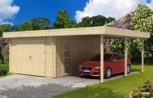 Holzgarage Mit Carport : die holzgarage mit carport ~ Markanthonyermac.com Haus und Dekorationen