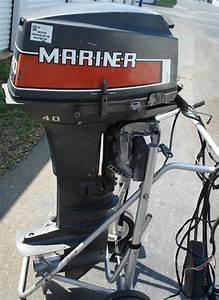 40 Hp Mariner Tiller Outboard Boat Motor Short Shaft