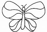 Coloring Simple Butterfly Colouring Drawings Flower Cliparts Printable Basic Clipart Toddlers Clip Printables Wings Template Library Cartoon Cutouts Templates Sheets sketch template