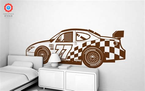 stickers muraux chambre garcon racing car wall decal nursery rooms wall decals