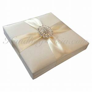 silk wedding invitation box luxury crystal brooch With luxury wedding invitations in boxes