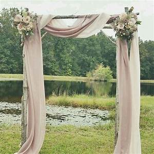 Ceremony Arch Simple Blush Look CEREMONY DETAILS