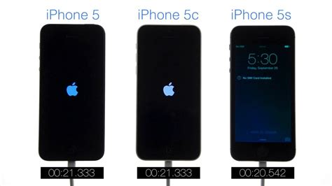iphone 5c vs iphone 5s boot speed test iphone 5 vs iphone 5c vs iphone 5s 17442