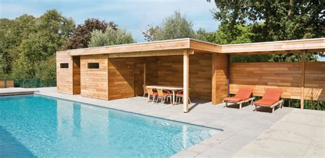 pool house bois homeandgarden