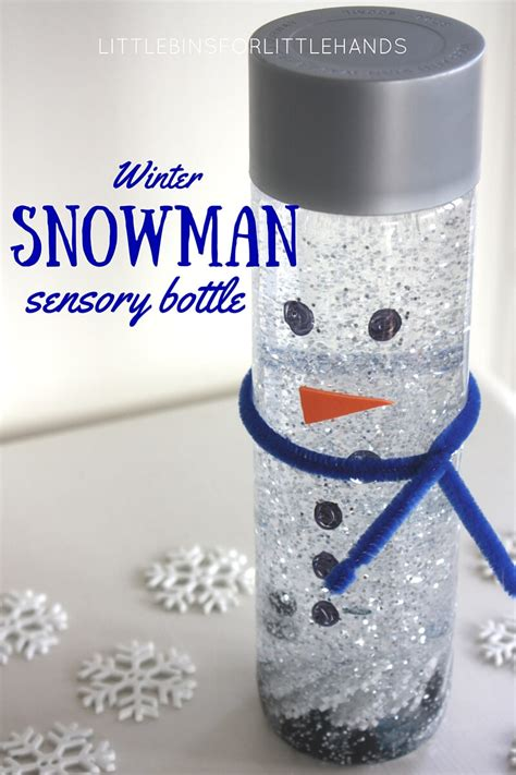 Image result for winter sensory snowman bottles