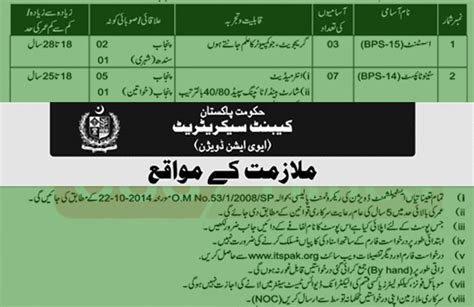 Cabinet Secretariat Result by Opportunities In Cabinet Secretariat Govt Of Pakistan