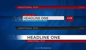 Newspaper Headline Template News Headlines Set Vector Download