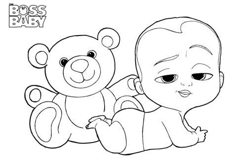 Boss Baby Coloring Pages Baby coloring pages Coloring