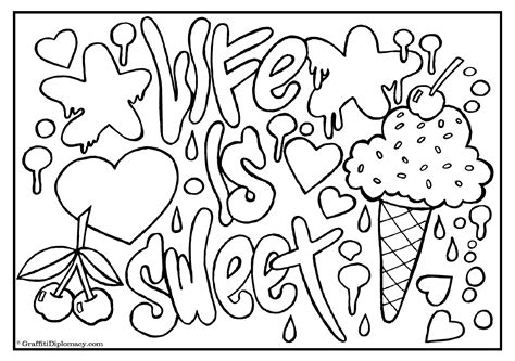 graffiti coloring book  ys  crooked letter
