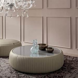 Table Basse Cuir : pliss coffee table 7336 table basse tonin casa en simili cuir avec plateau en verre sediarreda ~ Teatrodelosmanantiales.com Idées de Décoration