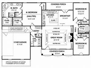 small one story cottages small one story house plans With small 1 story house plans