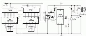 Cd4024b  Cd4068b  Cd4028  Bc148  Sl100 Ic Configure In Timer Mode To Generate The Square Wave