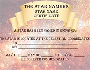the star namer39s free star naming certificate With star naming certificate template