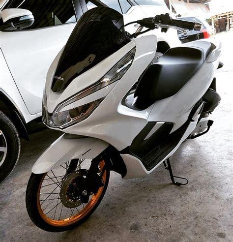 Pcx 2018 Gold Modifikasi by Modifikasi Honda Pcx 150 Terbaru 2018 Pakai Velg Ring 17
