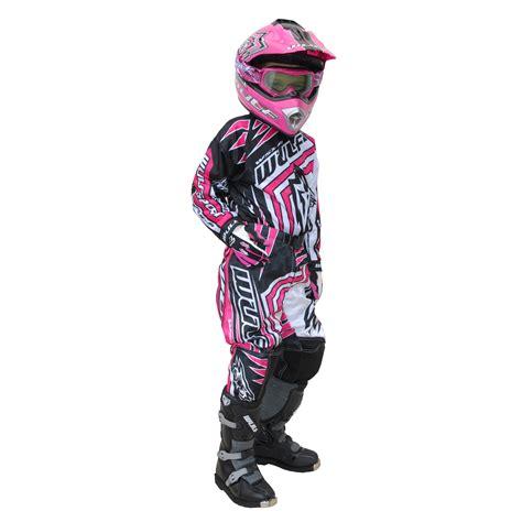 motocross gear for girls wulf wsx 4 girls pink kids off road youth motocross junior