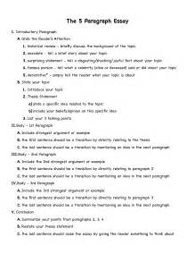 5 Paragraph Essay Outline Example