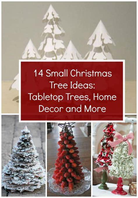 14 small christmas tree ideas tabletop trees home decor