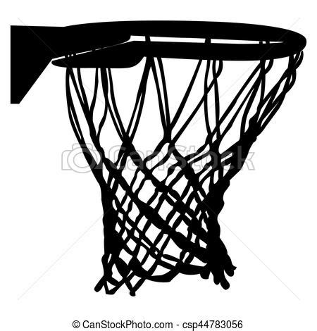basketball net clipart isolated basketball net on a white background vector