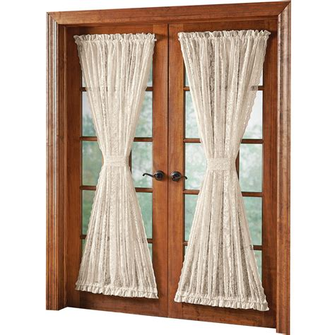 door panel curtains alison scalloped lace door panel curtain by collections