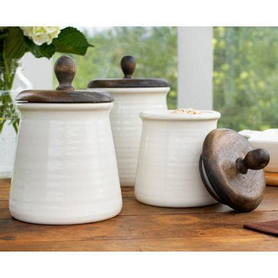 brown canister sets kitchen brown orchard ceramic canister with wooden lid for