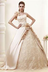 Jana champagne colored wedding dresses made in satin and lace for Champagne colored wedding dress