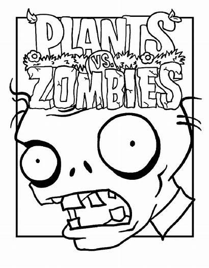 Zombies Plants Coloring Vs Zombie Printable Coloriage