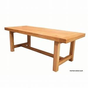 Table Chene Clair : table de ferme rectangulaire ch ne clair pied carre beaux meubles pas chers ~ Teatrodelosmanantiales.com Idées de Décoration