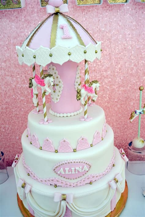 a pink gold carousel 1st birthday party party ideas kara 39 s party ideas carousel 1st birthday party kara 39 s
