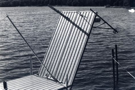 Folding Boat Lift by Fold Up Suspended Dock Pier Search Water Front