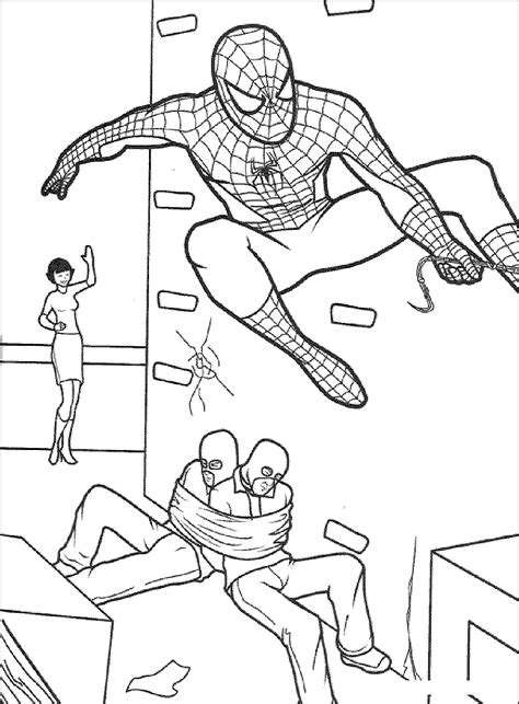 print  spiderman coloring pages  enjoyable