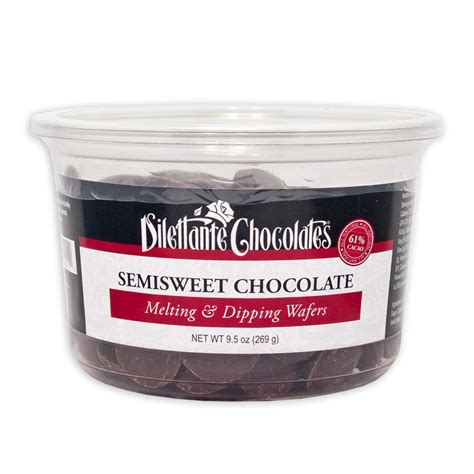 Semisweet Chocolate Melting and Dipping Wafers   Dilettante Chocolates