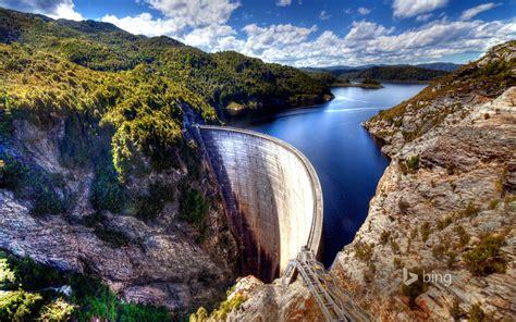 Creative Wallpapers For Iphone Gordon Dam Tasmania Australia Wallpapers Hd Wallpapers