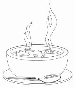 A Bowl Of Hot Soup Coloring Page | coloring pages mandela ...