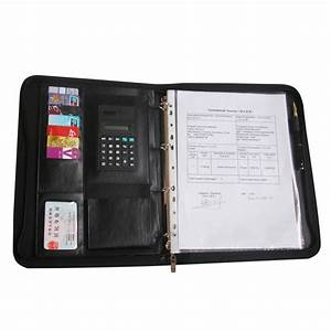 ever perfect a4 zipper bag leather file document folder With document holder folder
