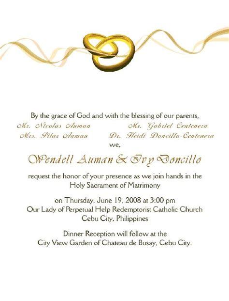 wedding invitation cover letter Wedding invitation