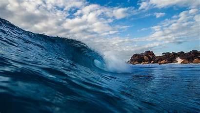 Water Wave Spray Background Surf Sea 4k