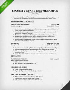 security guard resume With how to write a resume for security guard job