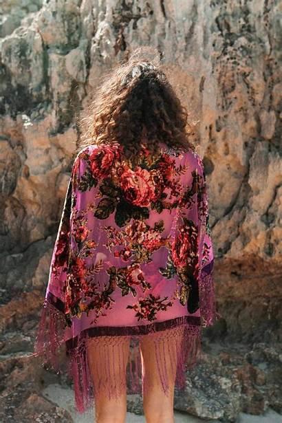 Kimono Purple Bohemian Floral