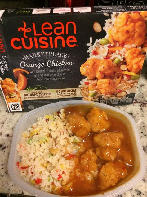 liant cuisine lean cuisine marketplace orange chicken it was delicious