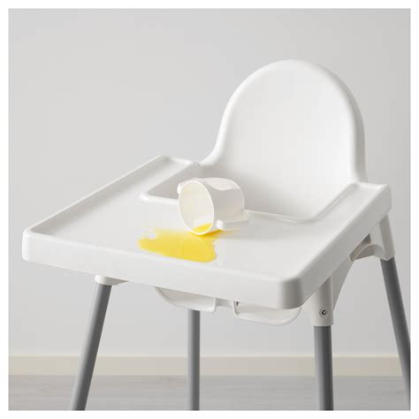 ikea chaise bebe antilop highchair with tray silver colour ikea