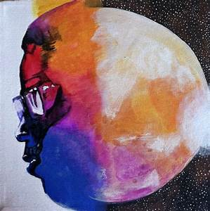 Man on the Moon: The End of Day Kid Cudi Inspired Canvas