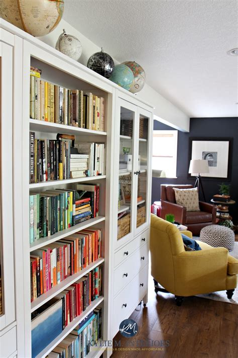 Ikea Hack Hemnes Bookcase by Ideas To Display A Book Collection In A Family Room With