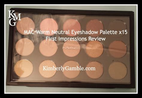 mac warm neutral eyeshadow palette review kimberly gamble