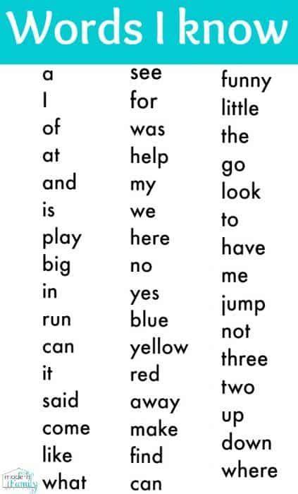 should i redshirt my kindergartener 946 | Kindergarten sight words printable 423x700