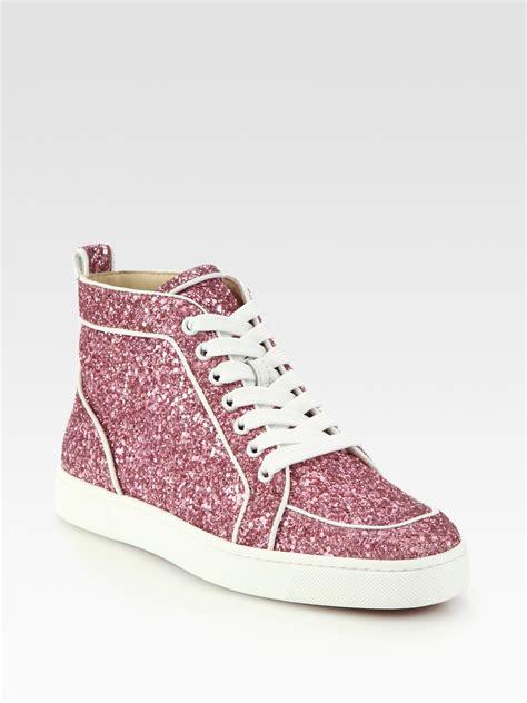 Christian Louboutin Rantus Orlato Glitter Sneakers in Pink ...