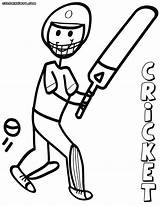 Cricket Coloring Pages Game Print sketch template