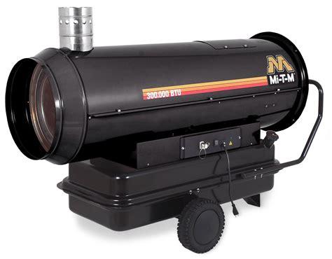 mi   kerosene indirect ductable job site portable heater