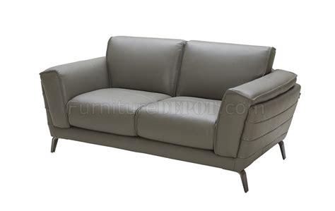 Berlin Sofa & Loveseat Set In Grey Leather By J&m W/options