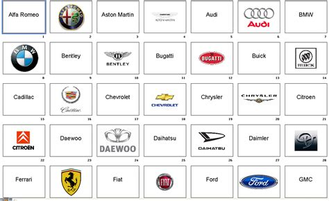 all car logos and names in the cars names download the flashcards tinkerbell