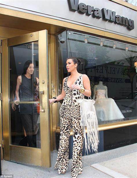Kim Kardashian Hunts For A Wedding Gown At Vera Wang
